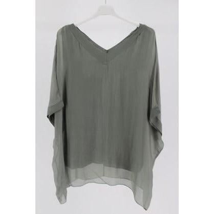Wednesday Lulu - V Neck Silk Top