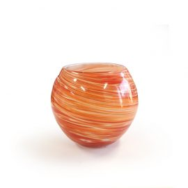 Black MILK - Globe Candle Orange Swirl