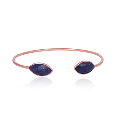Marquise Lapis Gemstone Bangle
