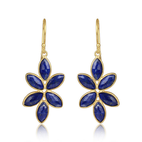 Petal Lapis Drop Earrings