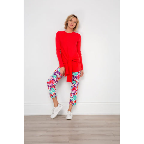 Spanner Tummy Control Multi Water Colour Print Pants