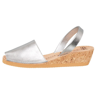 Avarcas - Silver Metallic Wedge