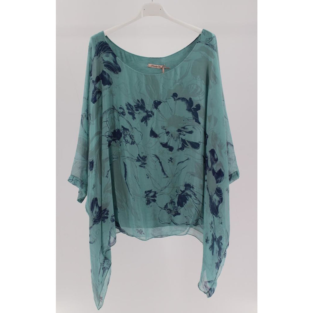 Wednesday Lulu - Floral Drape Top