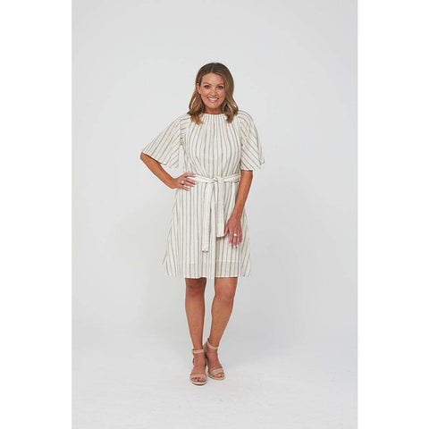 Kaja - Whitney Dress Gold Stripe