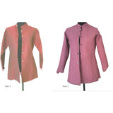 Silk Wine Reversible Quilted Jacket