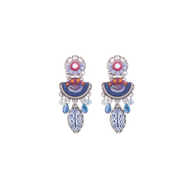 Ayala Bar - C1304 Morning Glory Puka Earrings