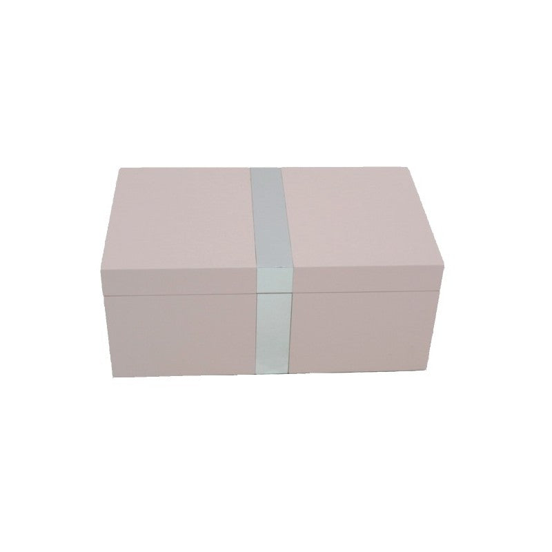 Fuchsia Jewellery Box with Silver Strip