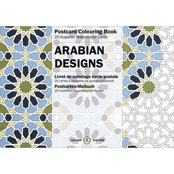 Postcard Colouring Book-Arabian Designs