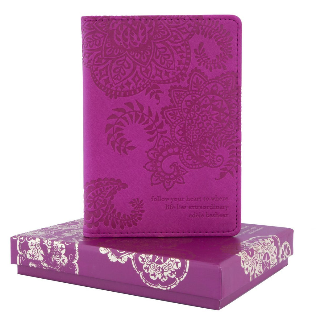 Intrinsic - Plum Cherry Purple Passport Wallet