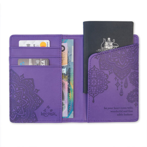 Intrinsic - Violet Purple Passport Wallet