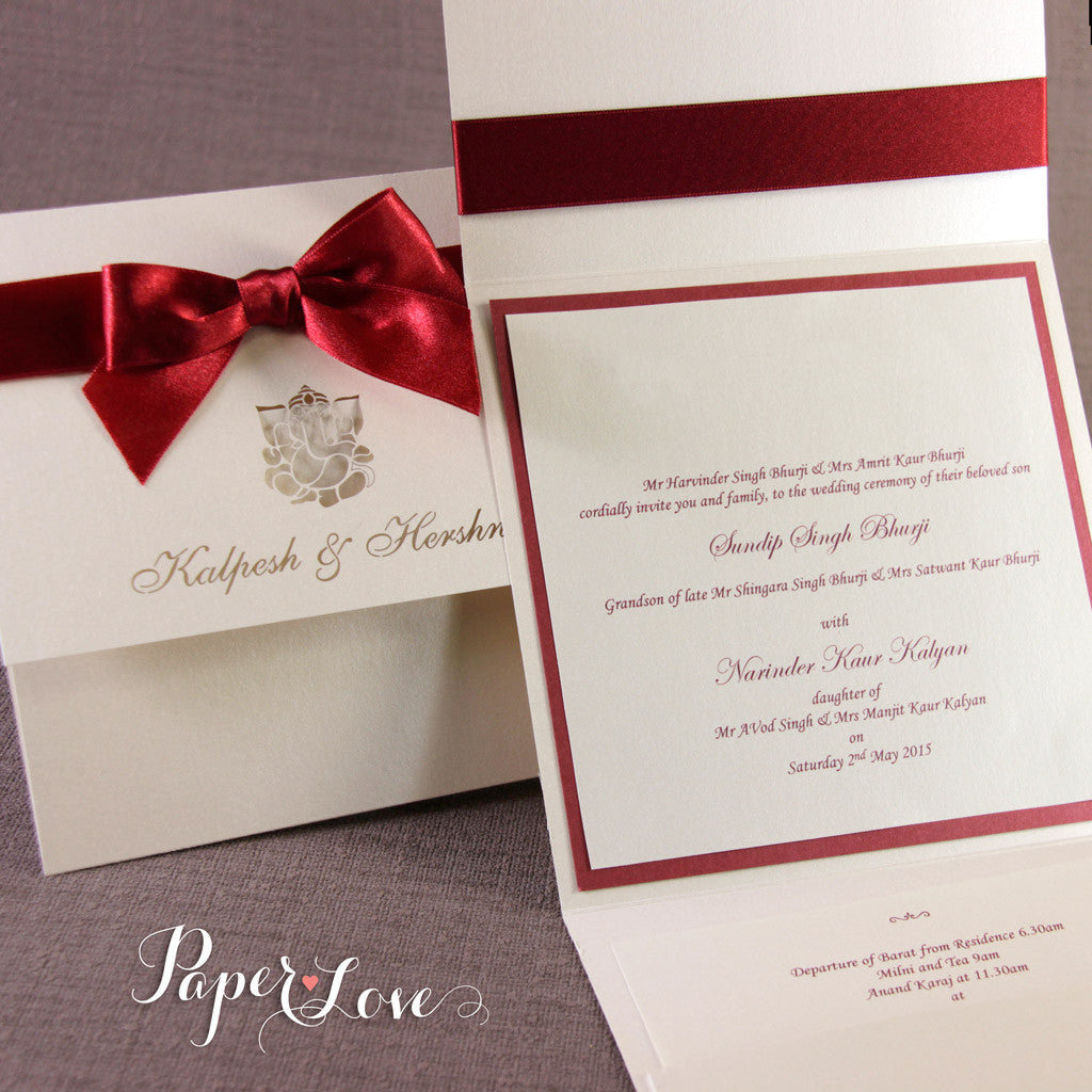 Do You Need An Inner Envelope For Wedding Invitations: Asian Wedding Invitation, Laser Cut With Complimentary
