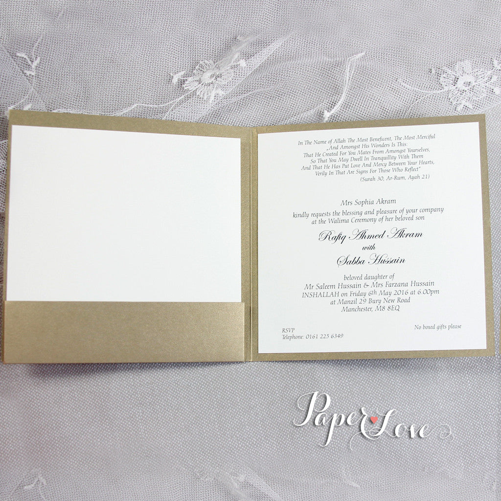 Asian Muslim Wedding Cards Uk