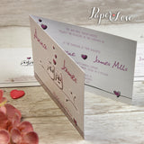 Owls Personalised Folded Day Wedding Invitations