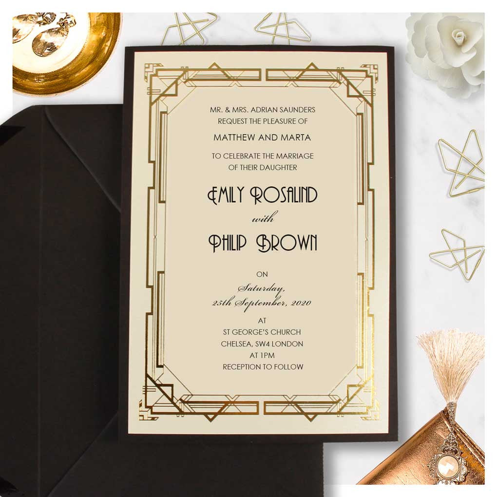 Beautiful Wedding Day Invitation With White Background and Printed ...