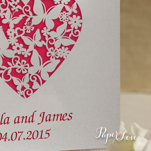 Laser Cut Butterflies Wedding Invitation