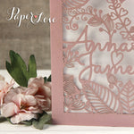 Copy of Amazing Quality Side Fold Rose Personalised Laser Cut Cover Wedding Invitations