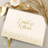 Gold Confetti Foil Wedding Guest Book