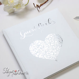 Amazing Foil Pressed Wedding Guest Book Unpersonalised Gold Silver Rose Gold Colours