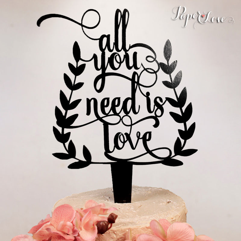 Cake Topper Wedding Poem Love Laurel Party Decoration Birthday Anniversary