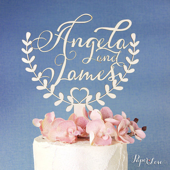 Personalised Wooden Cake Topper Birthday Decoration Anniversary Party Wedding