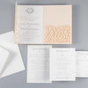 Pech Pocketfold Lace Floral Wedding Invitations