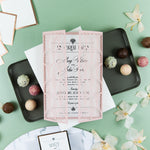 Modern Wedding Invitations DIY Cream Rose Laser Cut Invitation with Envelopes Custom Style