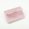 Pink Rose Pocketfold Lace Floral Wedding Invitations