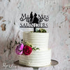 Cake Topper Wooden Wedding Mr and Mrs Couple Cake Topper Wedding Anniversary Birthday
