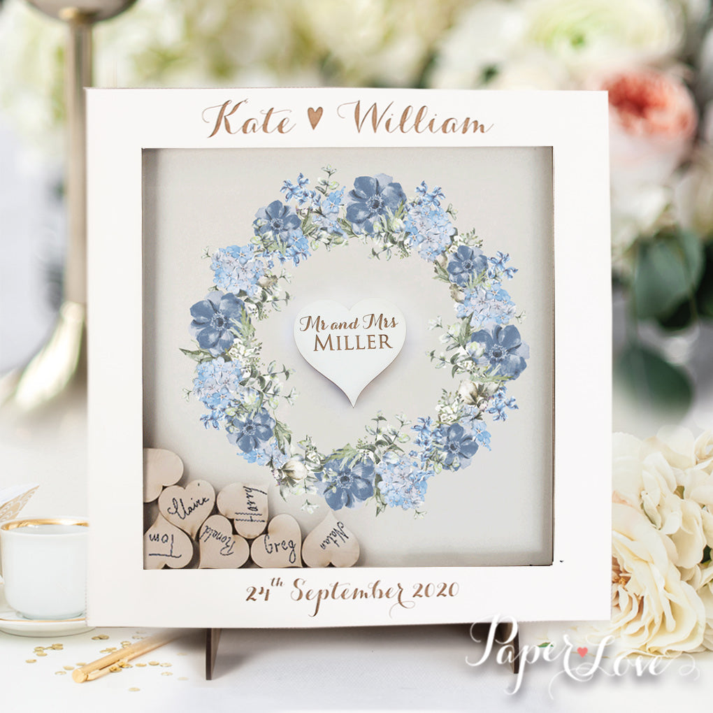 Large White Personalised Wedding Guestbook Big Laser Cut Square