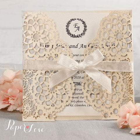 Elegant Gatefold Wedding Day Invitation Personalised Laser Cut Names On Cover Asian Indian Gold