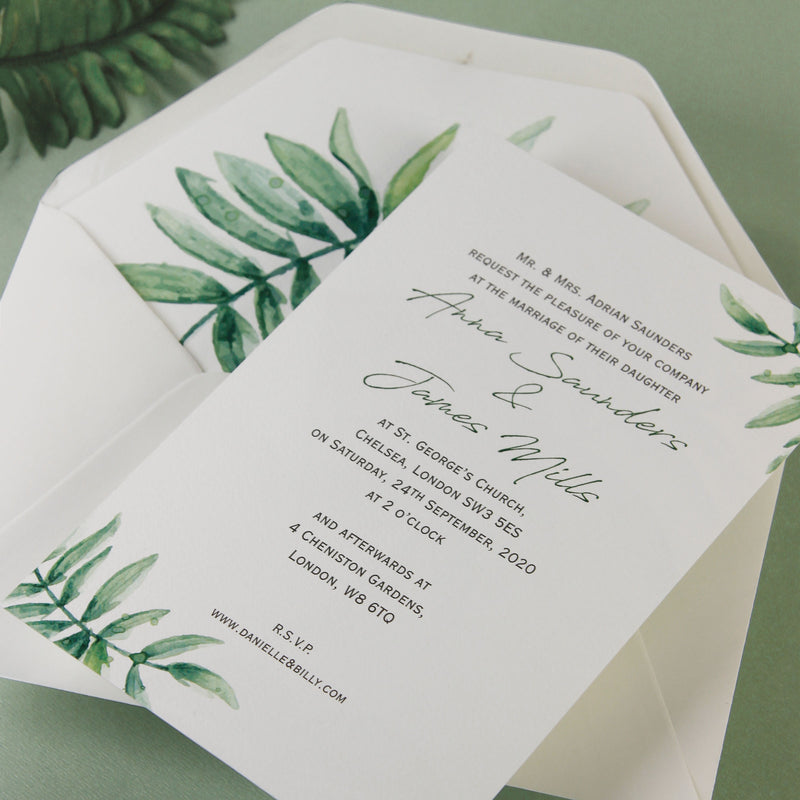 beautiful wedding day invitation with white background and