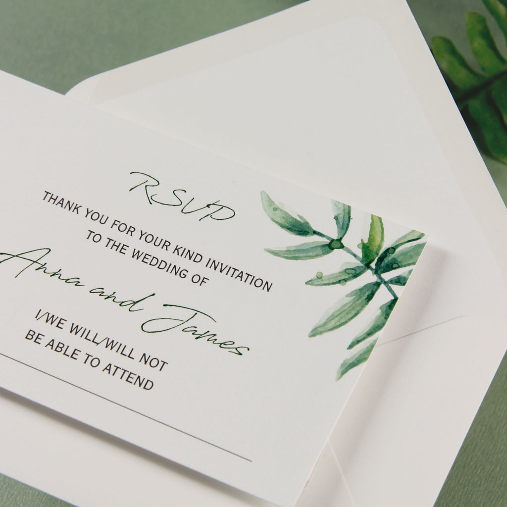 Beautiful Wedding Reply Card With White Background and Printed ...