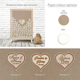 Alternative Wedding Guestbook Laser Cut, Wedding Heart Drop Top Guestbook, Wedding Dropbox