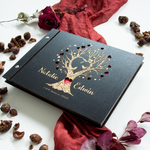 Wooden Cover Rustic Love Tree Personalized Guestbook