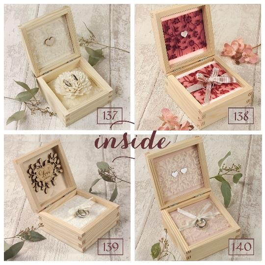 Beautiful Wooden Ring Box with personalization - various designs
