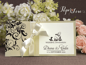 Wedding Invitation Ribbon Pocket