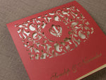 Ganesha In the Middle Luxury Top Fold Indian Asian Wedding Invitation Personalised, Laser Cut