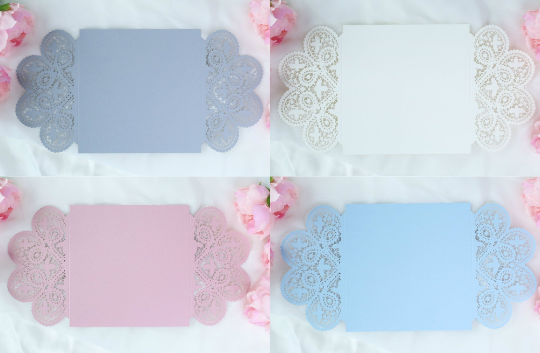 Beautiful Laser Cut Invitation Covers 8 colours - Wedding Cards Invitation