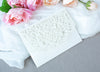 Ivory Pocketfold Lace White Wedding Invitations