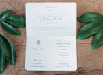 Navy Wedding Invitation Passport Luxury Gold Foil and Boarding Pass Invite suite