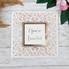 Lace Elegant Square Wedding Invitations with Gold Glitter