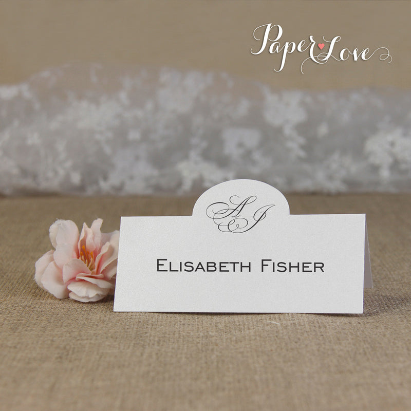 Elegant Personalised Place Card, High Quality Digital Printing