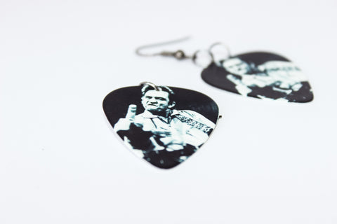 Johnny Cash Guitar Pick Earrings
