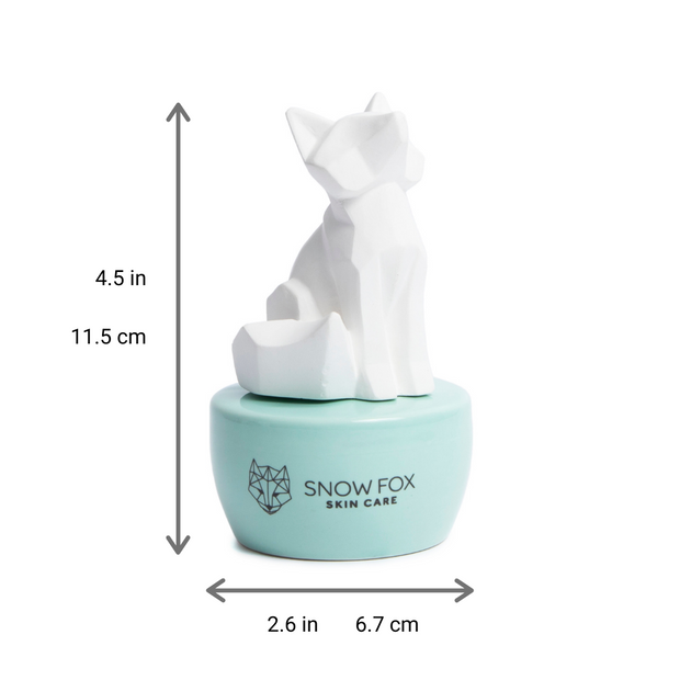 Ceramic Snow Fox Scent Diffuser and Essential Oil