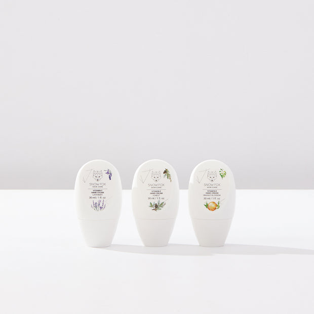 Vitamin E Hand Cream set Snow Fox skincare