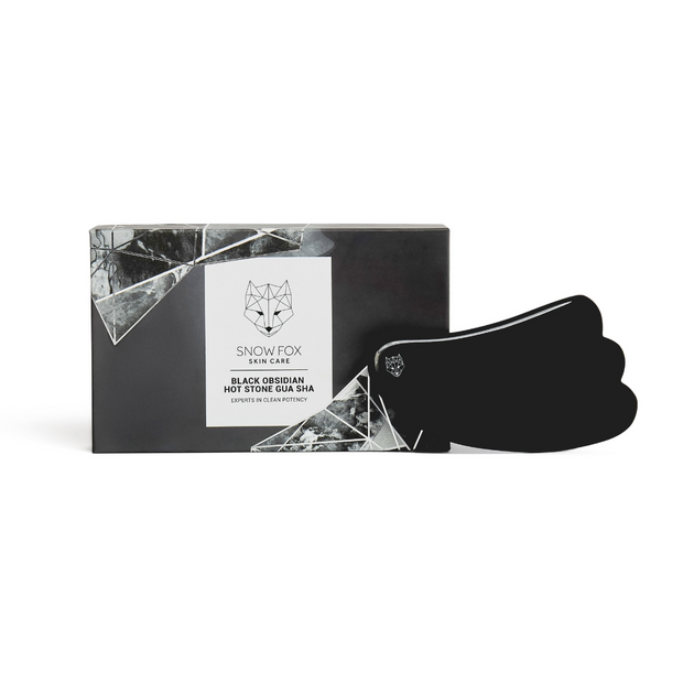 Black Obsidian Hot Stone Gua Sha Snow Fox skincare