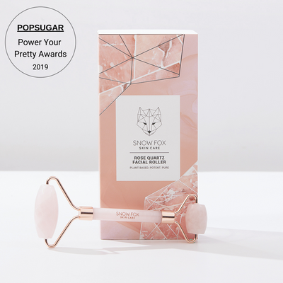 Popsugar's Power Your Pretty Awards winner Rose Quartz Facial Roller Snow Fox skincare