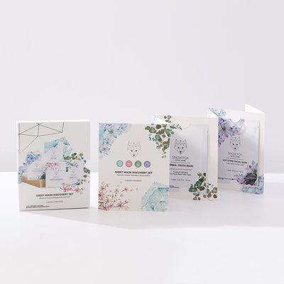Sheet Mask Discovery Set SnowFox skincare
