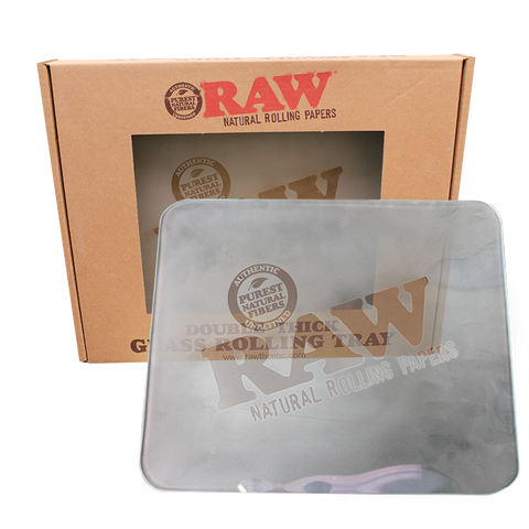 Raw Large Frosted Glass Rolling Tray