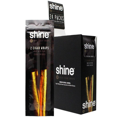 Shine Gold Cigar Wraps